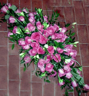 3ft Pink Rose Double Ended Spray