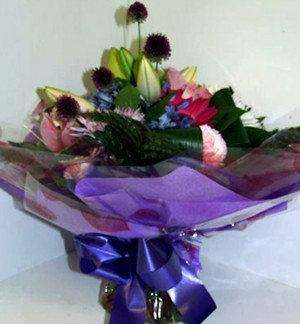 Gorgeous Purple Water Bouquet