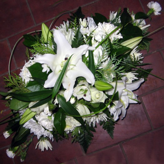 """18"""" White Lily Double Ended"""