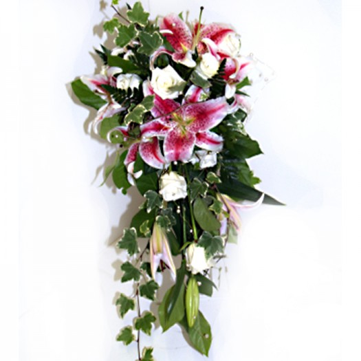 Stargazer Lily & Rose Shower Bouquet
