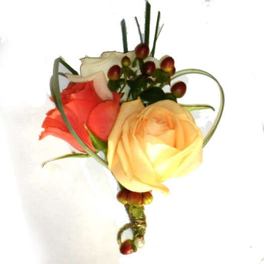 3 Rose buttonhole