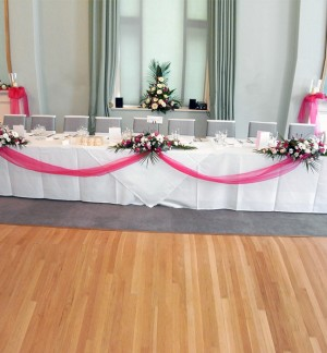 Table Decorations Linked with Organza