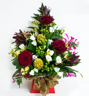 Large Christmas Box Arrangement