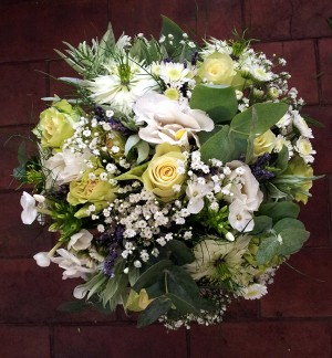 Green & Cream Posy