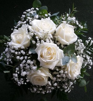 White Rose & Gyp Bridesmaids Bouquet