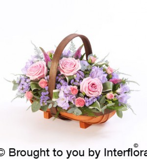Seasonal basket arrangement