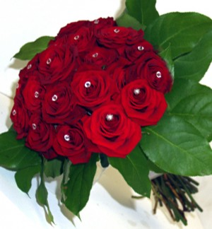 Luxury Red Rose Brides Bouquet