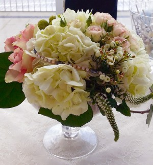 Hydrangea & Rose Display