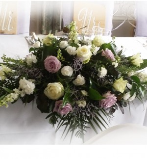 Vintage Top Table Arrangement