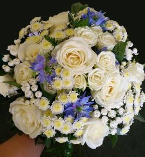 Touch of Blue Brides Bouquet