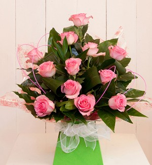 Gorgeous Pink Rose Box