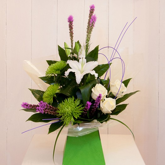 Scented Lilies, White Roses and Funky Green Blooms