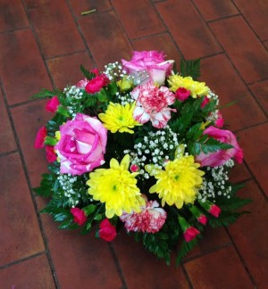 Pink and Yellow Seasonal Posy