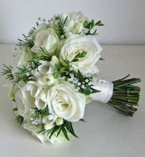 Fragrant White Brides Bouquet